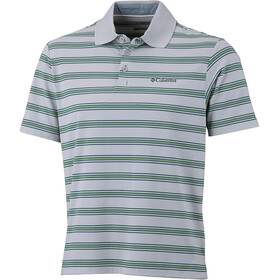 Columbia BIG Smoke II Stripe Polo Men, clean green